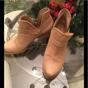 Lucky Brand Leather Booties Size 10